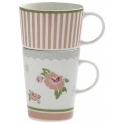 Doppia tazza mug Peonia