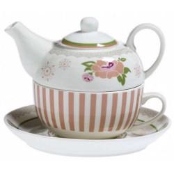 Teiera con tazza Peonia