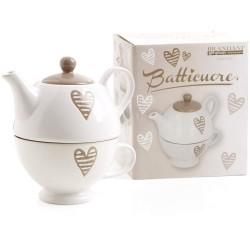Teiera con tazza Batticuore